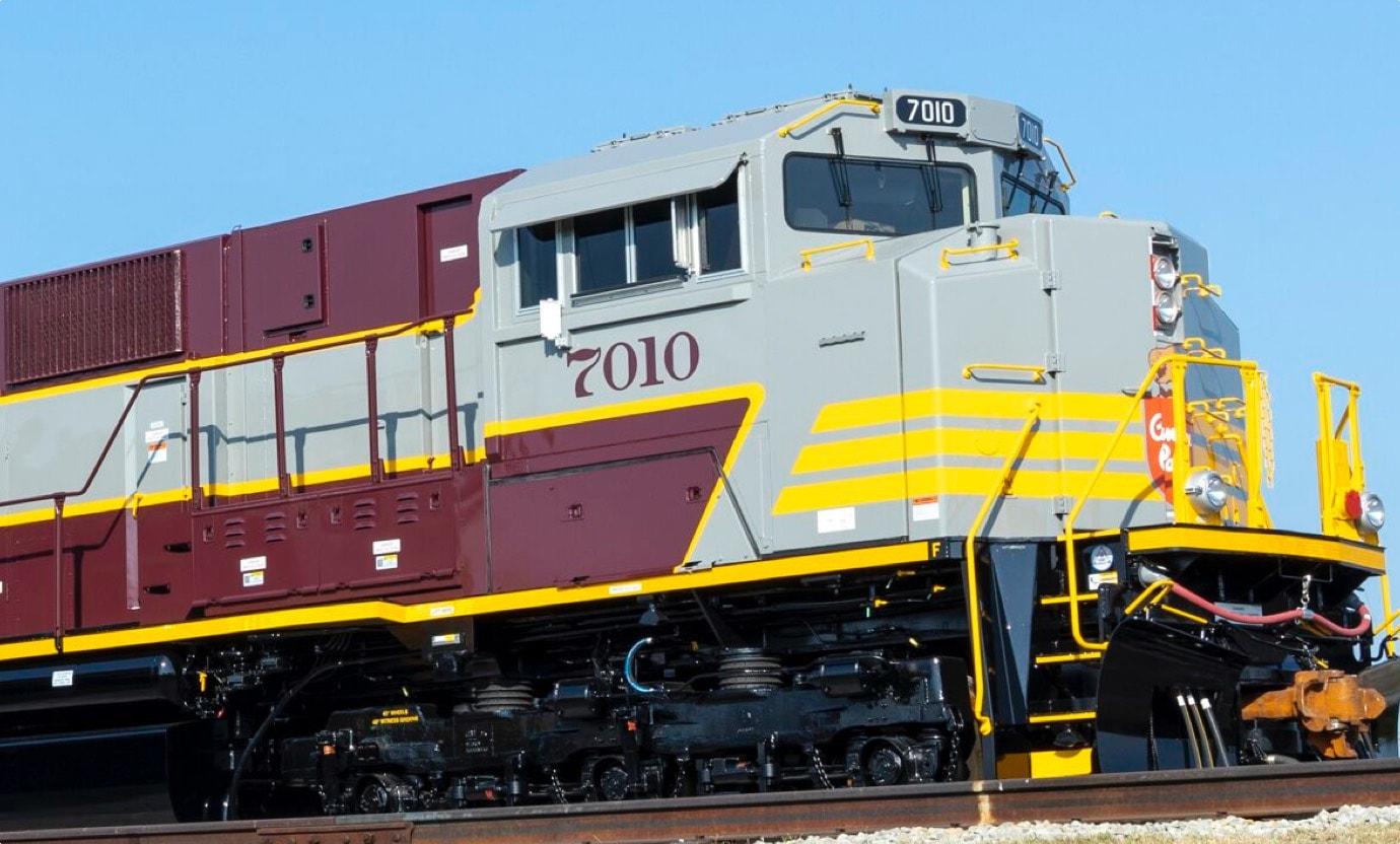 kelly coated locomotive